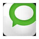 social, technorati, box, white icon