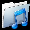 Folder, Graphite, Music, Stripped icon