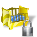 cradle,lock,locked icon