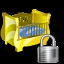 cradle,lock,locked icon