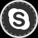 social, online, skype, media icon