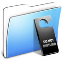 do, smooth, disturb, folder, not, aqua icon