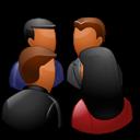 Dark, Group, Meeting icon