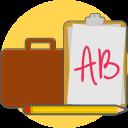 portofolio, paper, bag icon