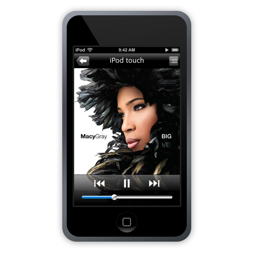 touch, ipod, mg icon