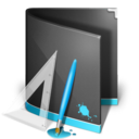design,folder,black icon
