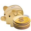 Bank, Cash, Deposit, Money, Piggy, Savings icon