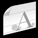 font, document icon