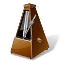 instrument, tempo, metronome, music icon