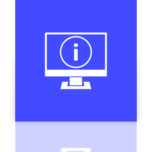 information, mirror, system, msconfig icon