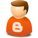 Blogger, texto, User, Web icon