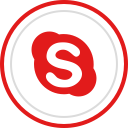 brand, social, skype, logo, media icon