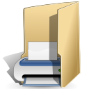 Filesystems folder print icon