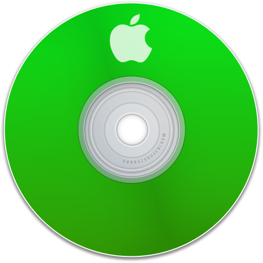 dvd, apple, save, green, disc, disk, cd icon