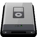 ipod, grey, b icon