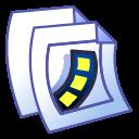 paper, document, video, file icon