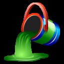 bucket, green, fill, paint icon