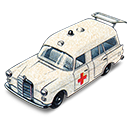 Ambulance, Benz, Boot, Mercedes, Open, With icon