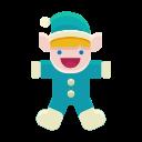 santa, winter, elf, christmas, child, toy, helper icon