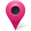 marker, map, base, pink, outside icon