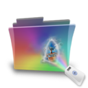 folder,rainbow,movie icon