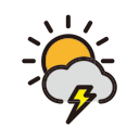 weather, rain, thunder, clouds, storm icon