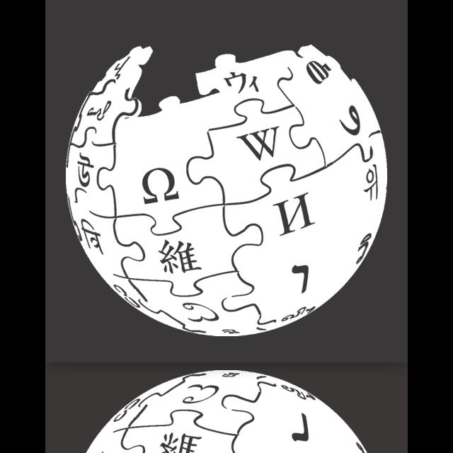 mirror, wikipedia icon