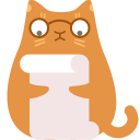 review,cat icon