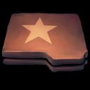 Folder Brown Star icon