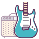 electronics, guitar, music, sound, audio, amp, device icon