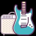 electronics, guitar, music, sound, audio, amp, device icon