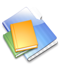 aqua,library icon