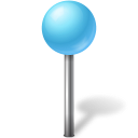 mapmarker, azure, ball icon