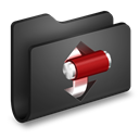 Black, Folder, Torrents icon