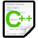 c++Src, Text, x icon