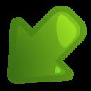 arrow,leftdown icon