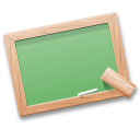school, tutorials, table, learn, black board, teach icon