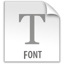 font, document, paper, file icon