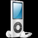 iPod Nano silver on icon
