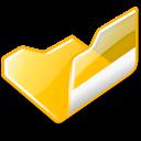 open, folder, yellow icon