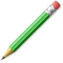 pencil, write & erase, write, edit icon