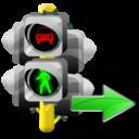 Lights, Next, Traffic icon