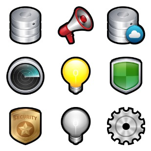 Tools and Devices icon sets preview