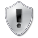 grey, warning, shield icon