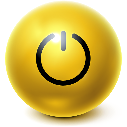 standby, ball, bright icon