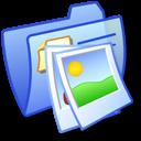Folder Blue Pics 2 icon