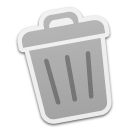 empty, trash, recycle bin, blank icon