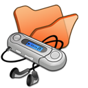 folder, orange, mymusic icon
