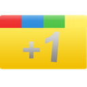 plus, +1, one, google+, yellow, rectangle, google icon