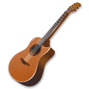 guitar, wood, instrument icon